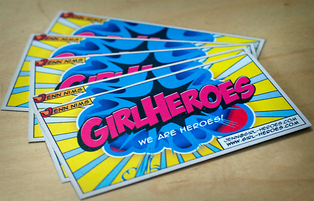 Nims Media » Girl Heroes Business Cards